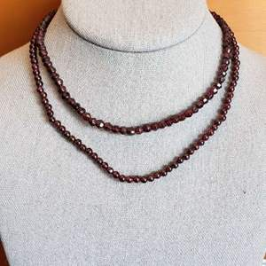 Lot # 431 (2) Beautiful Stone Necklaces w/ Sterling Silver Clasps