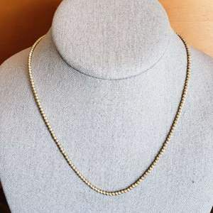 Lot # 433 Gold Toned Sterling Silver Necklace- Marked Italy