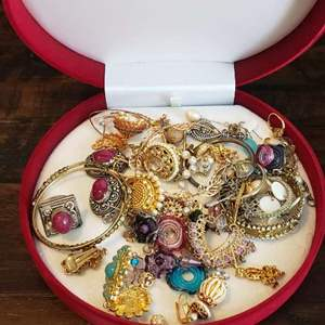 Lot # 458 Collection of Mismatched Earrings - See pics