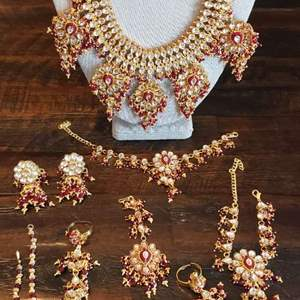 Lot # 459 Stunning Jewelry Set - Necklace, Hand Chain, Earrings & More