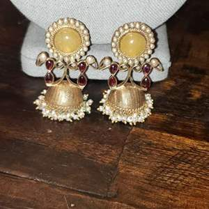 Lot # 464 Gold Toned Sterling Silver Clip on Earrings