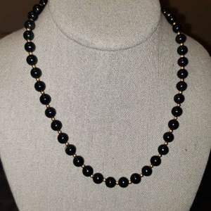 Lot # 467 14k Gold Beaded Necklace