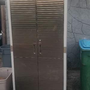 """Lot # 475 Seville Classics UltraHD Tall Storage Cabinet w/ Key 72"""""""