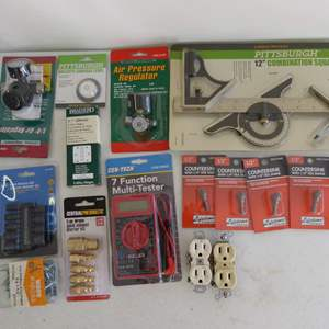 Lot # 179  Large grouping of new tools EVERYTHING in pictures