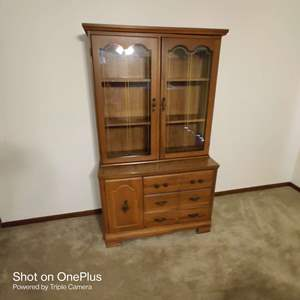 51 two piece china cabinet in great condition