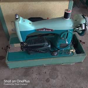 63 Federal sewing machine in case