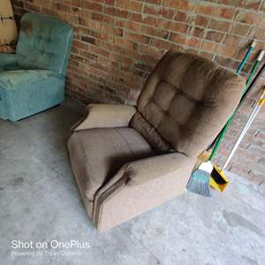 69 Brown Sears recliner with heat and massage