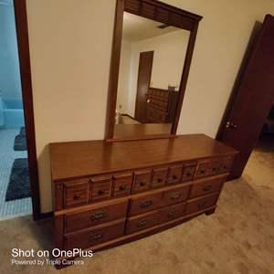80 very nice dresser and mirror