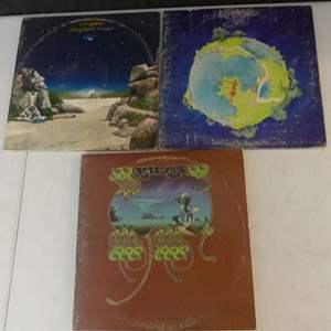 Lot #5 Yes Vinyl LPs (See Description)