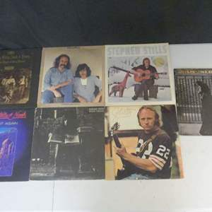 Lot #8 Crosby, Stills, Nash & Young Vinyl LPs (See Description)