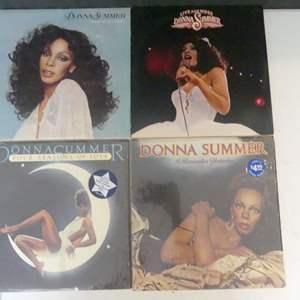 Lot #12 Donna Summer Vinyl LPs (See Description)