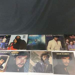 Lot #18 Country & Country/Rock Vinyl LPs (See Description)
