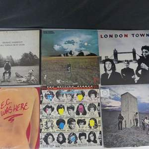 Lot #23 The British Invasion: Artists with British Roots Vinyl LPs (See Description)