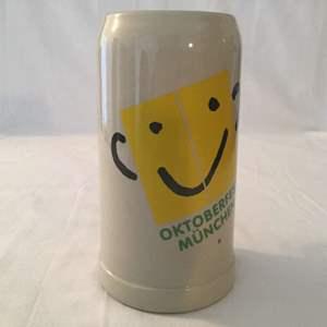 Lot #34 Gerz Oktoberfest Yellow Smiley Face 1 Liter Stein