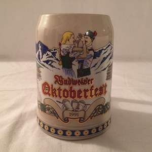 Lot #36 Budweiser 1991 Oktoberfest Stein SO50477 No COA No Box
