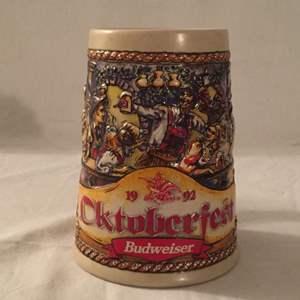 Lot #37 Budweiser 1992 Oktoberfest Stein CS185 No COA No Box