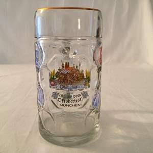 Lot #41 Bockling Gruß Vom Oktoberfest Munchen 2 Liter Dimpled Glass Stein
