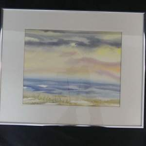 Lot #67 Framed/Signed (Camille Petrillo) Watercolor