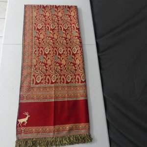 "Lot #72 Abu Gazala Egyptian Tapestry Shawl - 84"" x 36"""