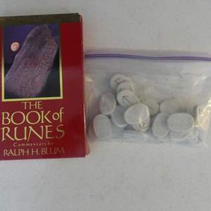 Lot #79 The Book of Runes Set 10th Anniversary Edition: OOP Book by Ralph H. Blum with 25 Rune Stones