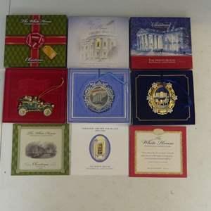 Lot #87 White House Historical Association Christmas Ornaments (See Description)