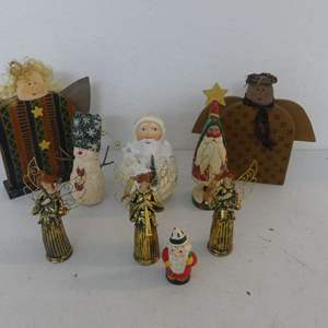 Lot #88 Christmas Figurines and Tabletop Decorations
