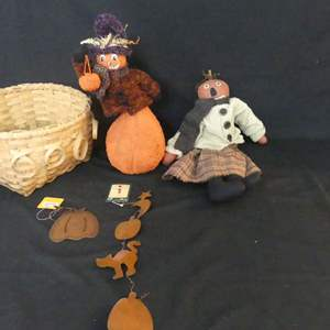 Lot #95 Basket of Halloween Decorations