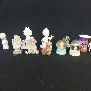 Lot #124 Figurines and Snow Globes with Mickey Mouse Mug (See Description)