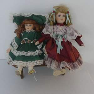 Lot #129 Carole (Seymour Mann Royal Connoisseur Collection 1991) and Her Friend Wait on The Bench