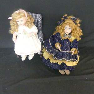 Lot #130 2 Porcelain Dolls (See Description)