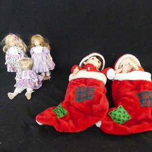 Lot #131 Precious Moments Stocking Dolls and Goebel Doll Club Exclusives (See Description)
