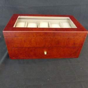 Lot #134 Bay-Berk Cherry Wood 20-Slot Watch Box