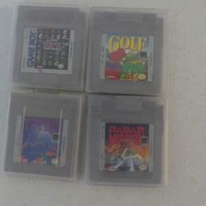 Lot #139 Nintendo Game Boy 4 Games: Tetris, Radar Mission, Konami NFL Football and Golf