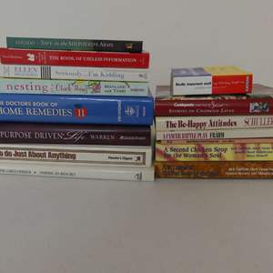 Lot #145 Lot of Self-Help, Inspirational, How To and Other Books - Various Authors and Subject Matter