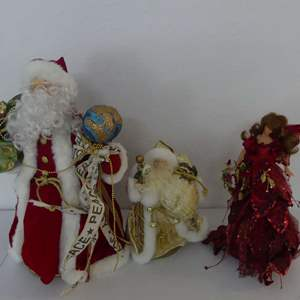 Lot #152 Lot of 3 Christmas Tree Toppers