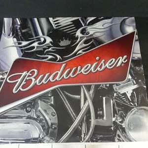"Lot #177 Budweiser Harley-Davidson 33"" x 28.5"" Poster"