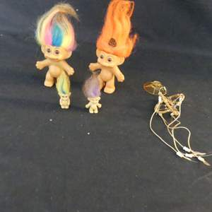 Lot #180 Vintage Russ Rainbow & Native American Trolls and Some Tiny Ones