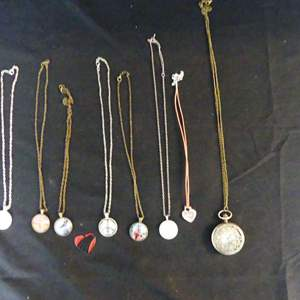 """Lot #184 Necklaces and a Cool """"Steam Punk"""" Look Necklace/Pocket Watch"""