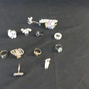 Lot #185 Rings - Most Adjustable Other Sizes Unknown
