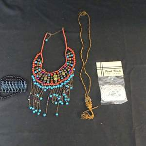 """Lot #190 Necklaces, Bracelet and 60"""" Strand of Pearl Beads"""