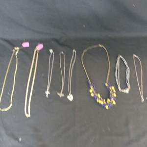 """Lot #201 Necklaces and 30"""" 18k Gold Electroplate Chain"""