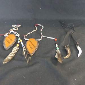 Lot #202 Native American Decorative Pieces and Jewelry