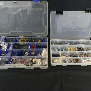 Lot #204 2 Large Organizers Chock Full of Craft & Jewelry Making Supplies