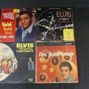 Lot #212 Elvis Presley Vinyl LPs (See Description)