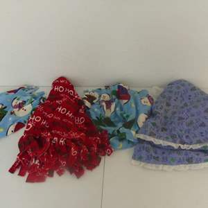 Lot #217 Lot of 4 Hand Made Tree Skirts