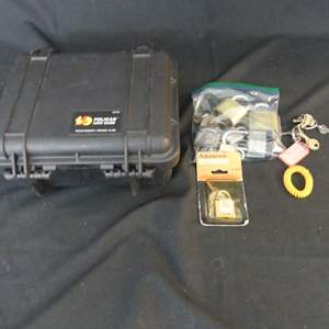 Lot #226 Pelican 1200 Watertight Case with Foam and Locks