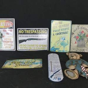 Lot #246 Outdoor Signs & Plaques