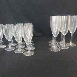Lot #255 Stemware - Set of 10 Short and Set of 6 Tall