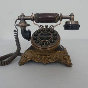 Lot #257 Antique Replica (Push Buttons to Resemble Rotary) Telephone