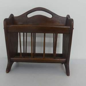 Lot #258 Wooden Spindle Magazine Rack
